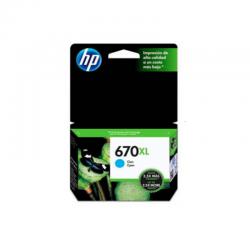 Tinta HP 670XL Cyan CZ118AL